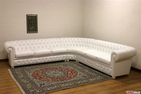 divano in pelle angolare divano chesterfield angolare con angolo tondo in vera pelle