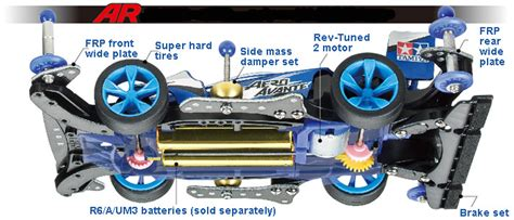 Tamiya Casis Ar mini 4wd starter pack ar speed spec aero avante