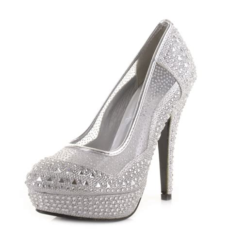 silver prom high heels silver heels for prom hairstyle 2013