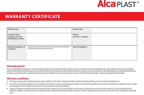 warranty certificate template free certificate template free premium templates