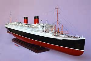 Ss United States Interior A Massive Model Of The Ss Ile De France Ocean Liner