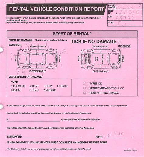 rental condition report template 10 things you should about car rentals in iceland