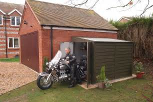 Motorcycle Shed Motorbike Sheds And Secure Motorcycle Garages For Home Storage