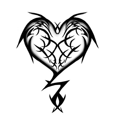 tribal broken heart tattoos tribal design tattoomagz