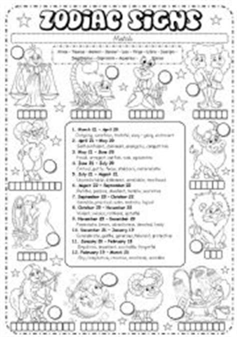zodiac signs printable worksheets english teaching worksheets zodiac signs