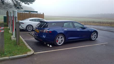 tesla model s supercharger tesla model s shooting brake wagon spotted supercharging