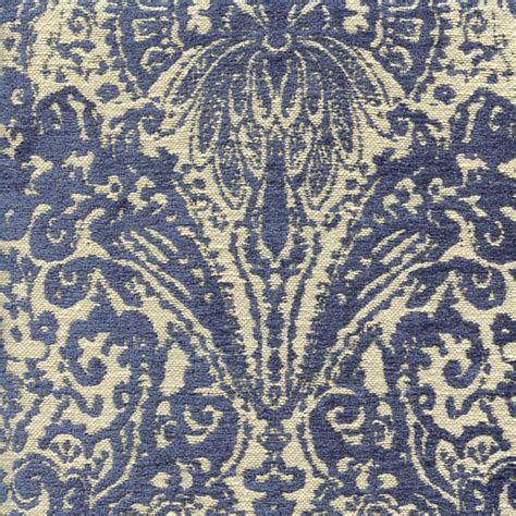 swavelle millcreek upholstery fabric gilsey blue chenille paisley upholstery fabric by swavelle