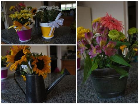 tin buckets for centerpieces diy centerpieces tin watering cans tin buckets and