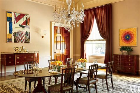 white house dining room look inside the obamas stylish white house home nbc news