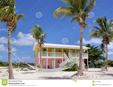 colourful caribbean beach house stock photo image 11437684