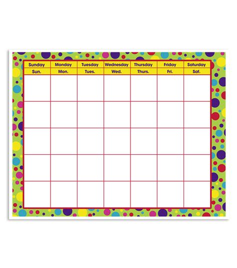 Online Shopping Sites Home Decor by Busy Kids Learning Large Classroom Chart Calendar Polka