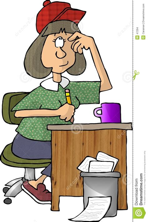 Cox Plans female writer stock illustration image of humor worker