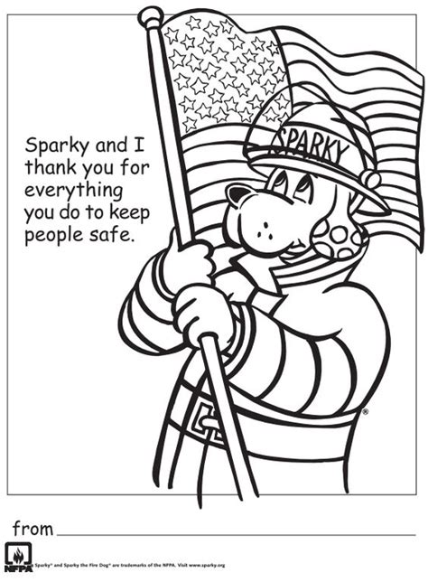 Thank You Fireman Coloring Pages free printable thank you firefighters coloring sheet