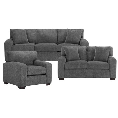 is sofa city furniture adam dark gray microfiber sofa