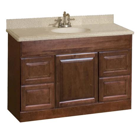 48 x 18 bathroom vanity pace valencia series 48 quot x 18 quot vanity with drawers at menards 174