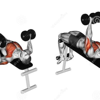 decline barbell bench press face pull exercise how to workout trainer by skimble
