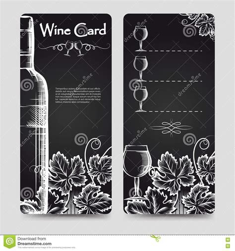 wine card template wine card menu flyers template stock vector image 76090778