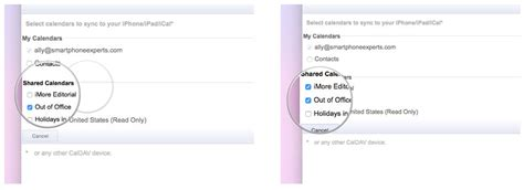 Calendar Syncselect How To Get Shared Calendars To Show On Iphone