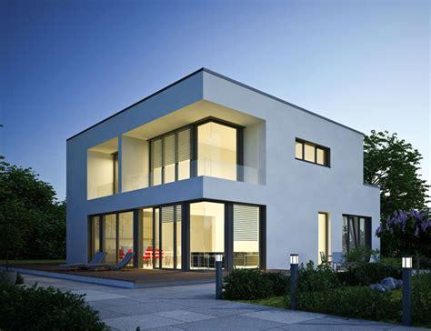 puristische architektur vereint mit offenem raumkonzept