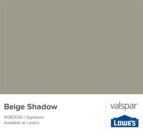 beige shadow from valspar paint colors