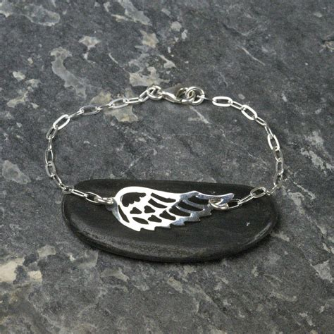 Tales From The Earth Silver Bracelet At Asos by Sterling Silver Guardian Wing Bracelet By Tales From