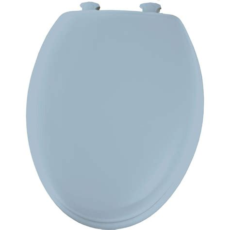bemis elongated closed front toilet seat in sky blue