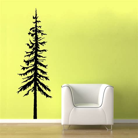 Etsy Wall - 22x66 large pine tree vinyl wall by oldbarnrescuecompany