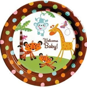 City Baby Shower Plates by Fisher Price Jungle Baby Shower Dinner Plates 8ct City