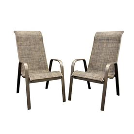 patio chair shop outdoor greatroom company set of 2 aluminum sling seat patio chairs at lowes