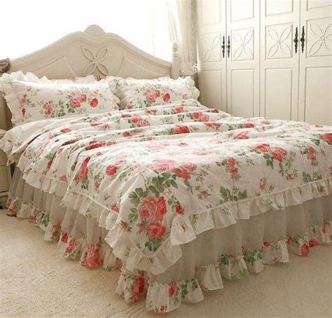 ruffle twin comforter shabby and elegante flowersea ruffle chiffon duvet cover bedding set twin size my style