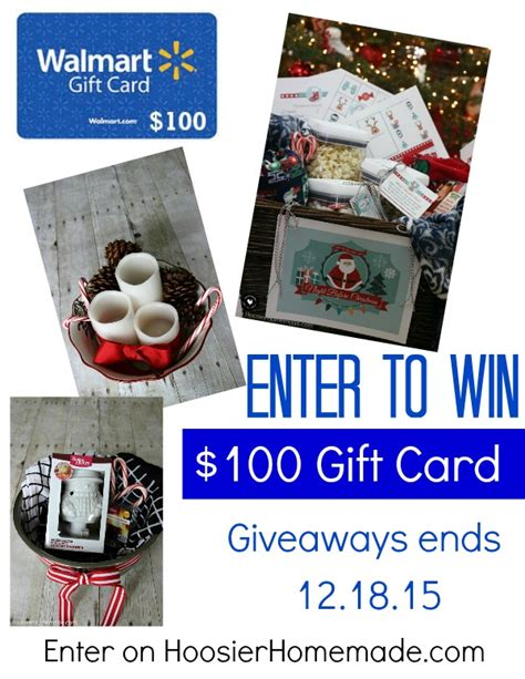 Send A Walmart Gift Card - giveaway 100 walmart gift card hoosier homemade