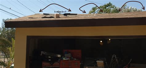 roof sagging how to fix sagging roof overhang nailing