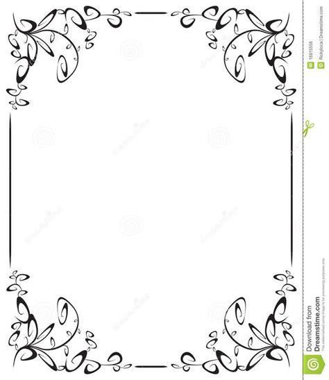 pattern frame corner frame with 4 corner decoration royalty free stock image
