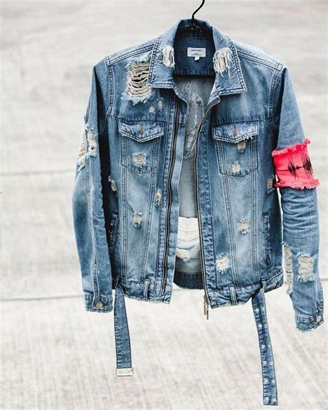Distressed Denim best 25 distressed denim jacket mens ideas on