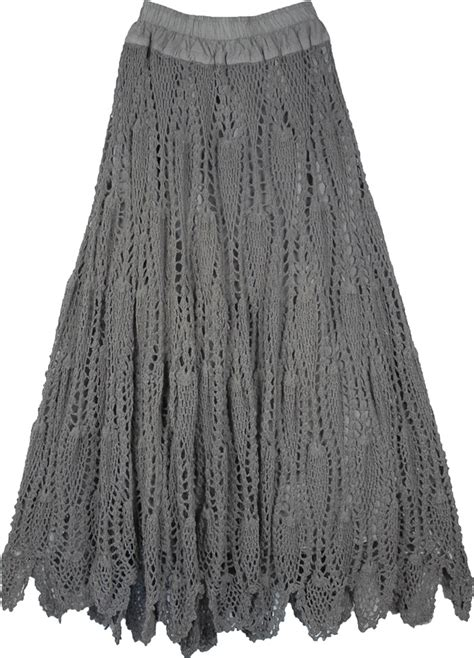 skirt pattern grey crochet cotton skirt from india clothing sale on