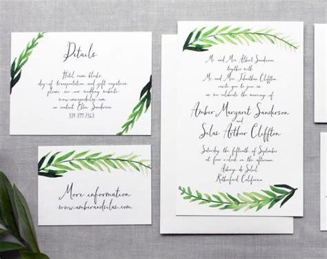 printable wedding invitations watercolor printable diy wedding invitation handpainted watercolor