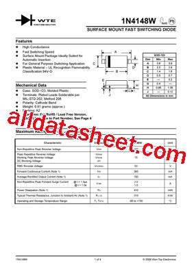 4148 diode pdf 4148 diode array 28 images mmbd4148w datasheet pdf diodes incorporated 1n4148 an wiki