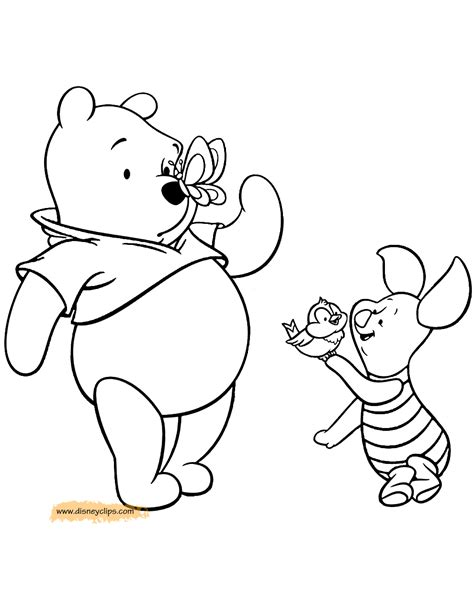 coloring pages winnie the pooh and friends winnie the pooh friends printable coloring pages