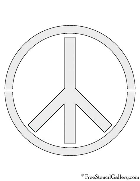 Peace Sign Stencil Free Stencil Gallery Peace Sign Template