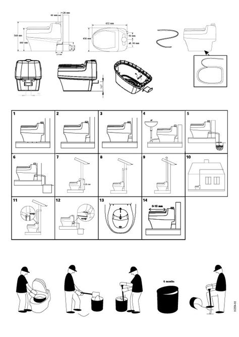 Toilette sèche écologique 230V VILLA 9000 SEPARETT