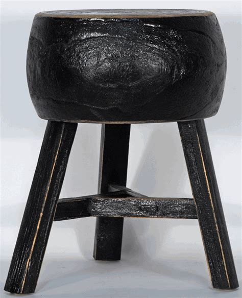 Rustic Three Legged Stool by Asian Furniture Rustic Three Legged Stool From China