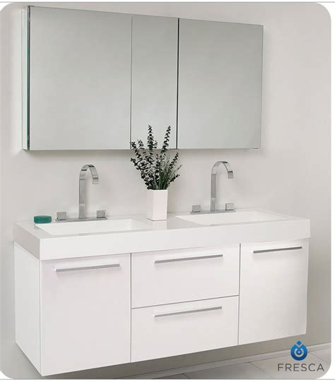 54 bathroom vanity double sink fresca fvn8013go opulento 54 inch white modern double sink