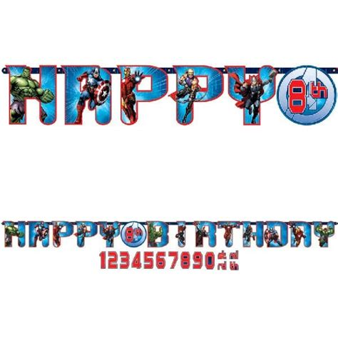 Bunting Flag Happy Birthday Avenger By Queenballoon add an age banner