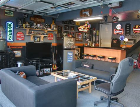 how to turn a garage into an awesome hang out spot