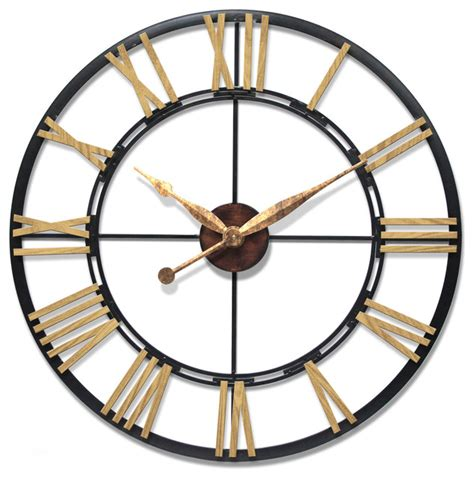infinity instruments cologne 45 oversized large wall clock steel frame traditional wall
