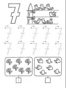 free printable number seven worksheets 8 171 funnycrafts