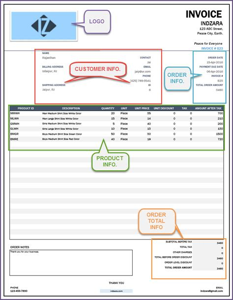 design invoice breakdown retail inventory management software accounting invoice