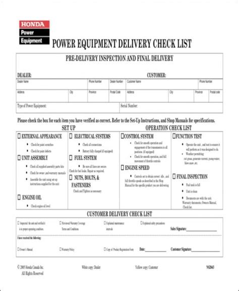 delivery checklist template 17 delivery checklist sles templates free word