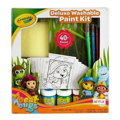 Crayola Deluxe Washable Paint Kit crayola beat bugs deluxe washable paint kit 44pc target
