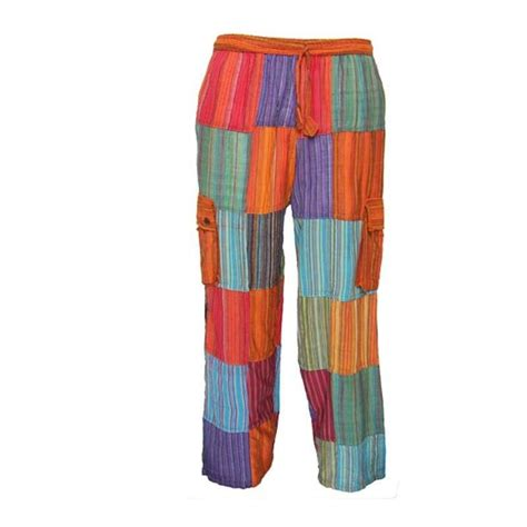 Patchwork Trousers - gringo plain patchwork trousers the hippy clothing co